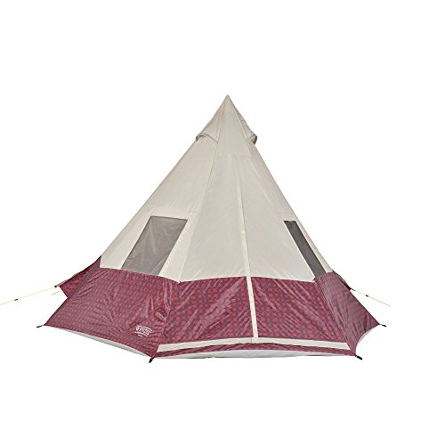 Wenzel Shenanigan 5 Outdoor 5 Person Summer Camping Tent, Red Buffalo Plaid