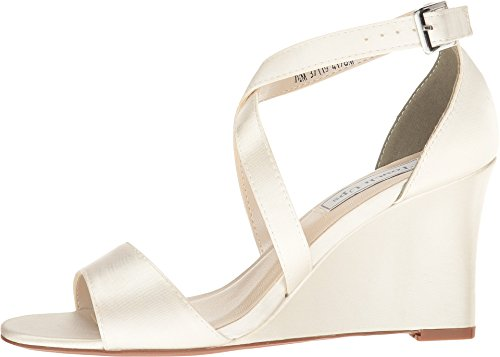 Touch Ups Womens Jenna Wedge Sandal Ivory R9GwEeo5t