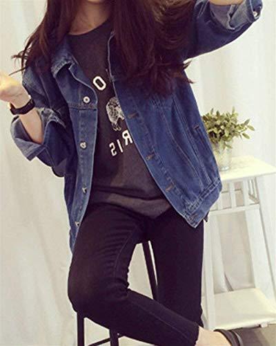 Donna Blu Lunga Manica Giacche Als Bild Relaxed Giubotto Ragazze Marca Fashion Giacca Libero Bolawoo Di Mode Tempo Eleganti Autunno Casual Jeans Fidanzato College RHf5qn1W