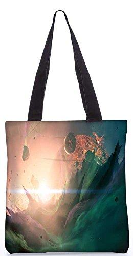 Snoogg Explosion Fantasie-Einkaufstasche 13,5 X 15 In Shopping-Dienstprogramm Tragetasche Aus Polyester Canvas