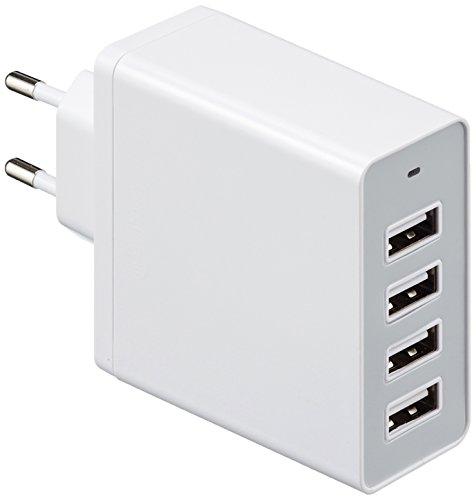 AmazonBasics - Cargador de pared con 4 puertos USB (8 A)