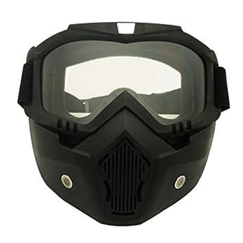 TOOGOO Racing Desmontable Modular Motocicleta Casco Mascara protectora Escudo Lente transparentes