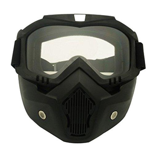 TOOGOO Racing Desmontable Modular Motocicleta Casco Mascara protectora Escudo Lente transparentes product image
