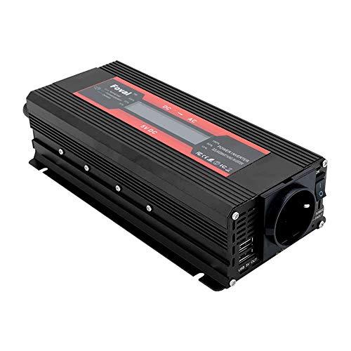 TOPmountain - 2000W Peak Solar Power Inverter for Car,DC 12V to 220V AC Converter for Phone Home Appliances