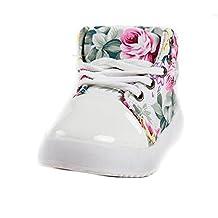 Child Kids Girl Flower Floral high-top Lace-up Canvas Sneaker walking sport Shoe