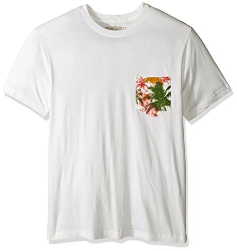 Margaritaville Men's Short Sleeve Tropical Pocket T-Shirt, White, XX-Large