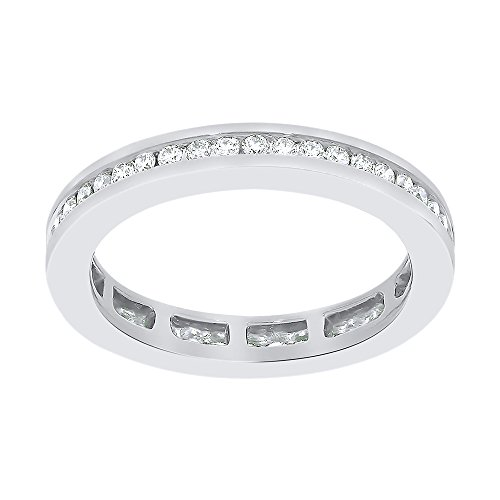 Diamond Eternity Band in Sterling Silver (1/2 cttw) (I-Color, SI3-I1 Clarity) (Size-12.5) by KATARINA