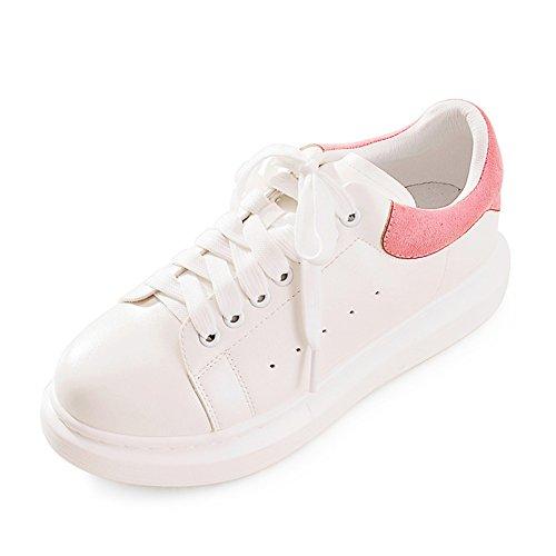 zapatos Con zapatos Del De Y Zapatos Fondo Zapatillas A Grueso Primavera Ocio Planos Plataforma Otoño blanco Moda zqOwzTU
