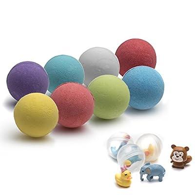 Kids Suprise Toy Bath Bombs - 8 Aromatics KidsBath Bomb Bath Toy By Schöne Body 100g 8 Set - Kid Safe, Gender Neutral with Organic Essential Oils