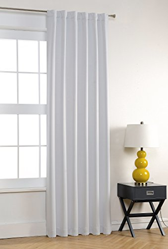 MYKSY HOME Thermal Insulated Back Tab And Rod Pocket Blackout Curtains For Living  Room, Off White, 52 X 84 Inch, 1 Panel Part 61