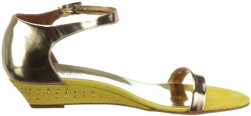 SHOE clásicas S5288 CAGI de Dorado Sandalias tela WOMAN'S mujer para Sebastian SPOR OqpYE5Ox