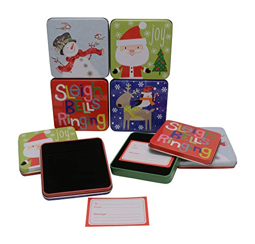Christmas Gift Card Tin Holders with Insert and Card (8)