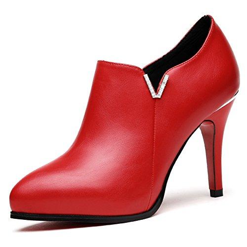PUMPS Damen High Heels,Schuhe mit Tiefem Mund,Schwarz,Wilde Schuhe-B Fußlänge=23.8CM(9.4Inch)