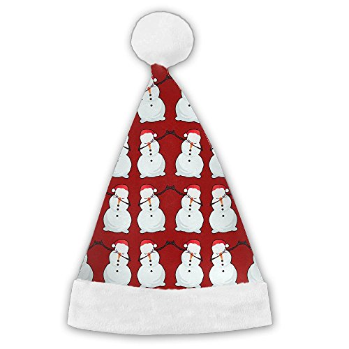 [Seasonlogo Snowman Dab Dance Hip Hop Traditional Plush Christmas Santa Hat Costume Holiday Hats For Dinner Table Cutlery Holders] (Snowman Dance Costumes)