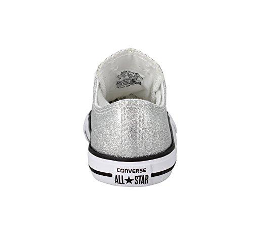 Converse - Zapatillas de deporte para niño plateado