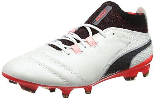 Puma Men Een 17.1 Fg Voetbalschoenen Wit (wit-zwart-vurige Koraal)