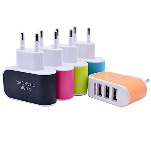 Tuscom Triple USB Port 3.1A EU Plug for Home Travel Wall Charger,for Phones Cameras IPAD,MP3 Players (Orange) by Tuscom@ (Image #2)