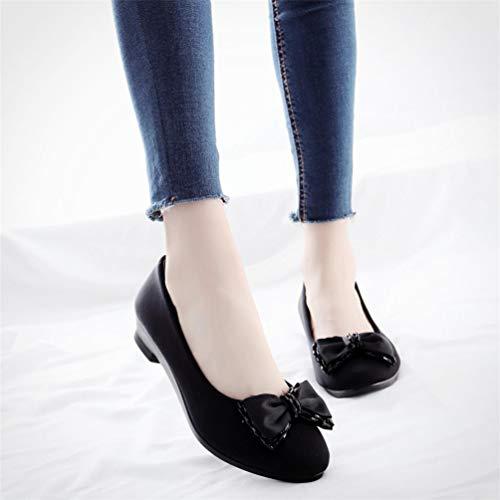 Coins pour Le Travail Chaussures Femmes Mocassins Cales Chaussures de Femmes Chaussures Enceintes Chaussures Doux Ballet Bateau de Bureau S8aIWqf