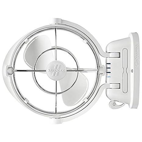Amazon com: Caframo Sirocco II  Mounted Fan  360 Airflow
