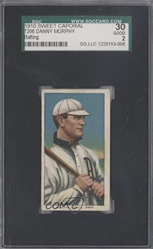 T206 Baseball Caporal Sweet (Danny Murphy SGC GRADED 30 (Baseball Card) 1909-11 T206 - [Base] - Sweet Caporal 350 Factory No. 30 Back #DAMU)