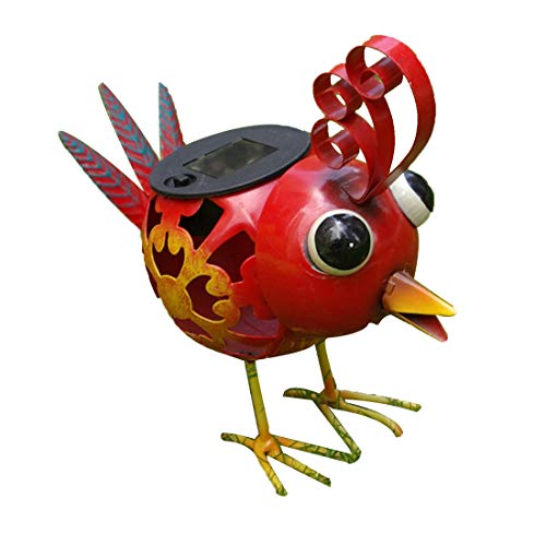 Metal Chicken Solar Light in US - 4