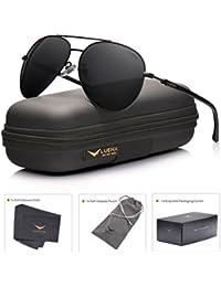 Men Aviator Sunglasses Polarized Women - UV 400 with case...