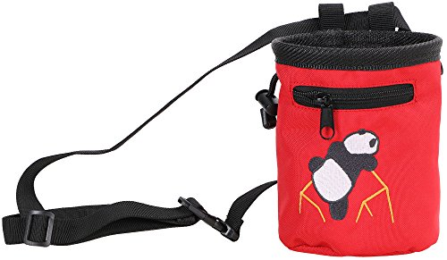 AMC(TM) Rock Climbing Panda Bear Design Chalk Bag w/ Drawstring Closure and Belt