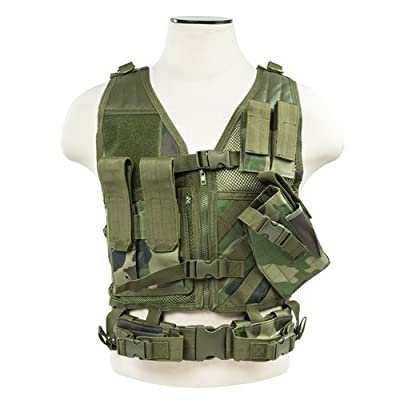 NcSTAR VISM CTVC2916WC Tactical Vest, Small, Woodland Camo