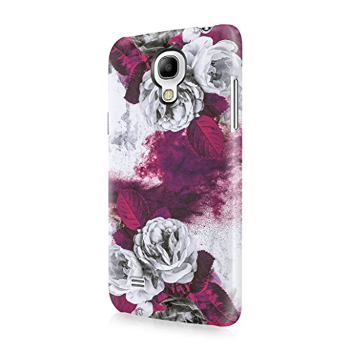 Purple Sand Grunge Rose Blossoms Durable Hard Plastic Protective Phone Case Cover For Samsung Galaxy S4 Mini (Purple Rose Florist)