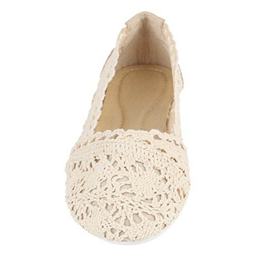 Weiss Ballet Creme Creme Flats Stiefelparadies Women's qXwvxqP
