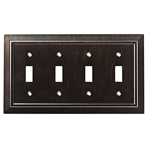Quad Switch Wall Plate - Franklin Brass W35227-VBR-C Classic Architecture Quad Switch Wall Plate/Switch Plate/Cover, Venetian Bronze