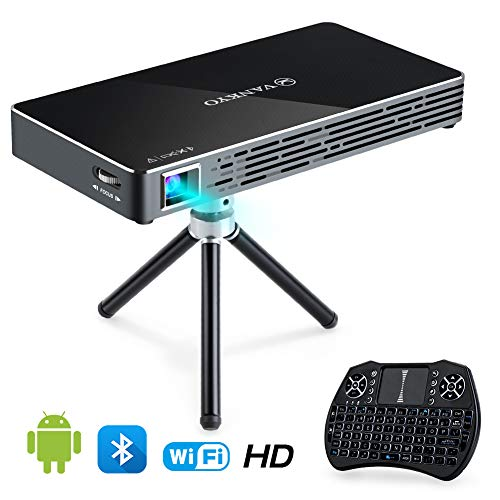 - VANKYO Passport M50 DLP Smart Mini Portable Projector, 100 ANSI Lumens w/Andriod 7.1 OS Pre-Installed, WiFi, HDMI, USB Micro SD Ports Free Mini Wireless Keyboard Tripod