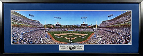 LA Dodgers Dodger Stadium Opening Day Panoramic (Deluxe) Framed ()