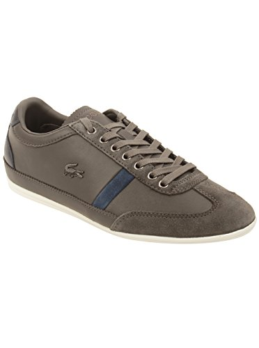 Lacoste Men's Misano 33 Fashion Sneaker, Dark Grey, 8 M US