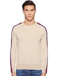 Mens Contrast Stripe Sweater