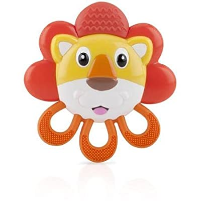 BPA Free Nuby Vibe-eez Vibrating Teether, Lion : Baby