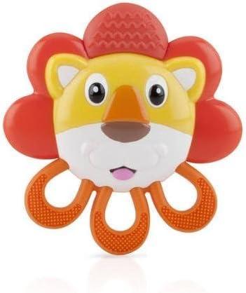 Nuby Vibe-Eez - Tetera vibrante sin BPA, león: Amazon.es: Bebé