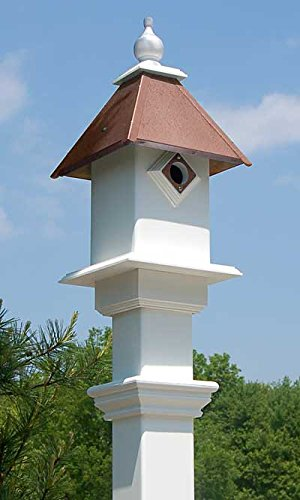 BestNest Classic Bluebird House & Mounting Post, Copper Colored Roof ()