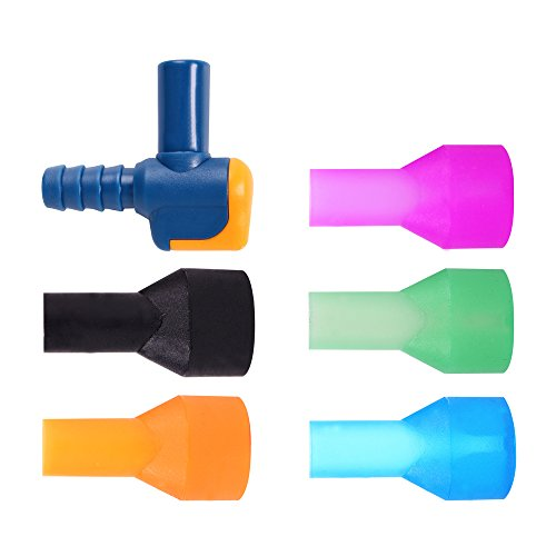 (J.CARP On-Off Bite Valve with 5 Color Mouthpieces, Pack of 6)