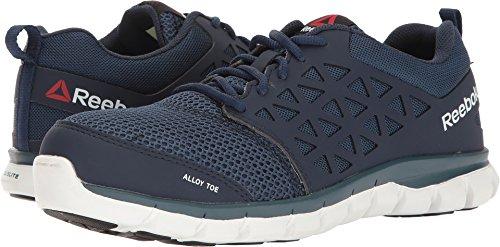Reebok Mens Navy Mesh Work Shoes Alloy Toe Oxfords 12 -
