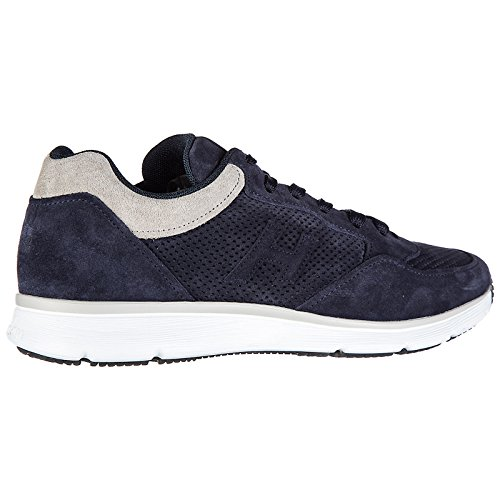 shipping discount sale for sale free shipping Hogan Men's Shoes Leather Trainers Sneakers h254 t2015 h 3D forato blu free shipping discounts GEAEP