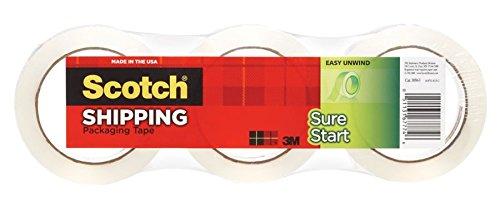 Scotch Sure Start Shipping Tape, 1 7/8