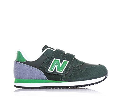 coutures garçon à velcro Verde verte et et grise et avec tissu en en microfibre visibles garçons BALANCE semelle latéral Chaussure caoutchouc sport de logo l'arrière et NEW wSUqAax