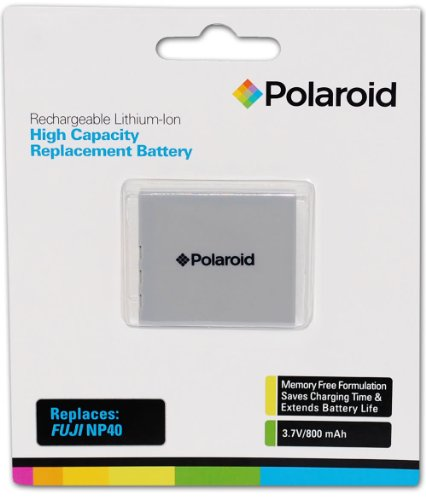 Polaroid High Capacity Fuji NP40 Rechargeable Lithium Replacement Battery (Compatible With: J50, F480, Z10, Z3, Z2, Z1, F810, F710, F700, F650, F610, F470, V10 Zoom, M603) 800 Mah Fuji Battery