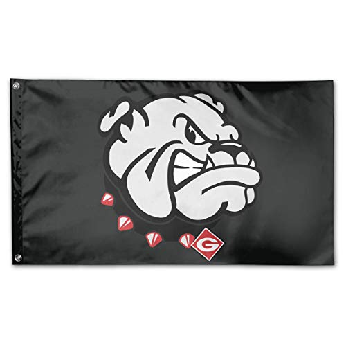 Riyuekong 3X5 Foot Bulldogs Flag - 100% Single Layer of Translucent Polyester/Brass Grommets - Bright Pattern -