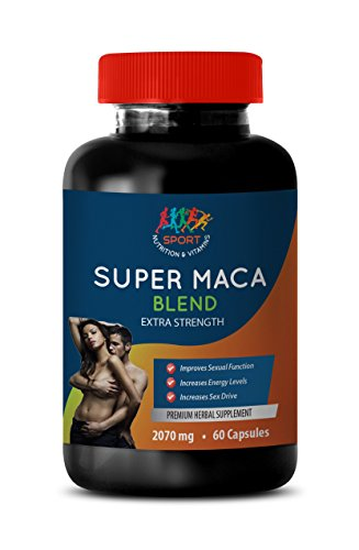Male Enhancing Pills yohimbe - Super MACA Blend 2070 MG - Extra Strength - maca Extract Bulk Supplements - 1 Bottle 60 Capsules by Sport Nutrition & Vitamins USA