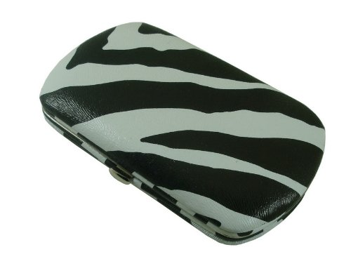 MINI FLAT WALLET CLUTCH BY DESIGNSK (Zebra), Bags Central