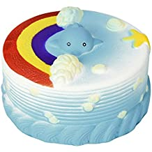 Shybuy Jumbo Rainbow Cake Slow Rising Squeeze Squishy Toys Sea Style Cream Squishies Fun Creative Stress reliever Toy Gift For Kids Adult