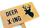 DEER X-ING, Deer Crossing, Outdoor Sign, Nature Signage, Gift for Nature Lover, Custom Garden Sign, Personalized Garden Marker, Outdoor Sign