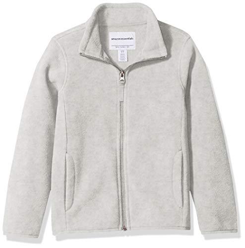 775dc70f10 Amazon Essentials Girl's Full-Zip Polar Fleece Jacket, Heather Gray, Large